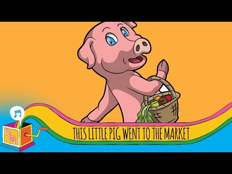This Little Pig Went to the Market | Animated Karaoke