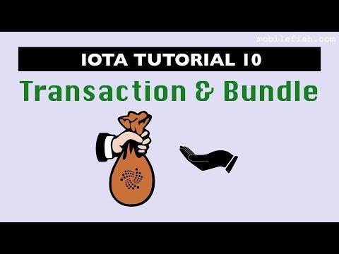 IOTA tutorial 10: Transaction and Bundle