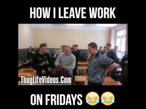 Leaving Work On Friday Meme Funny : How i leave work on fridays polish school guy kicks doors out