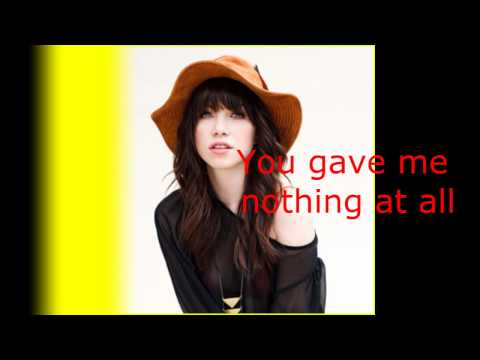 Carly Rea Jepsen - Call Me Maybe (Lyrics)