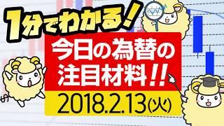 1分で分かる♪今日のFX・為替相場の注目点はコレ!![2月13日火曜日]by 羊飼い