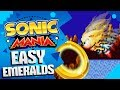 How To Get EASY EMERALDS in Sonic Mania | 30-Seconds Per GIANT RING!