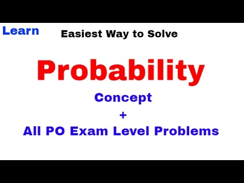 Probability (Concept + All PO Exam Level Problems) For SBI PO & IBPS PO [In Hindi]