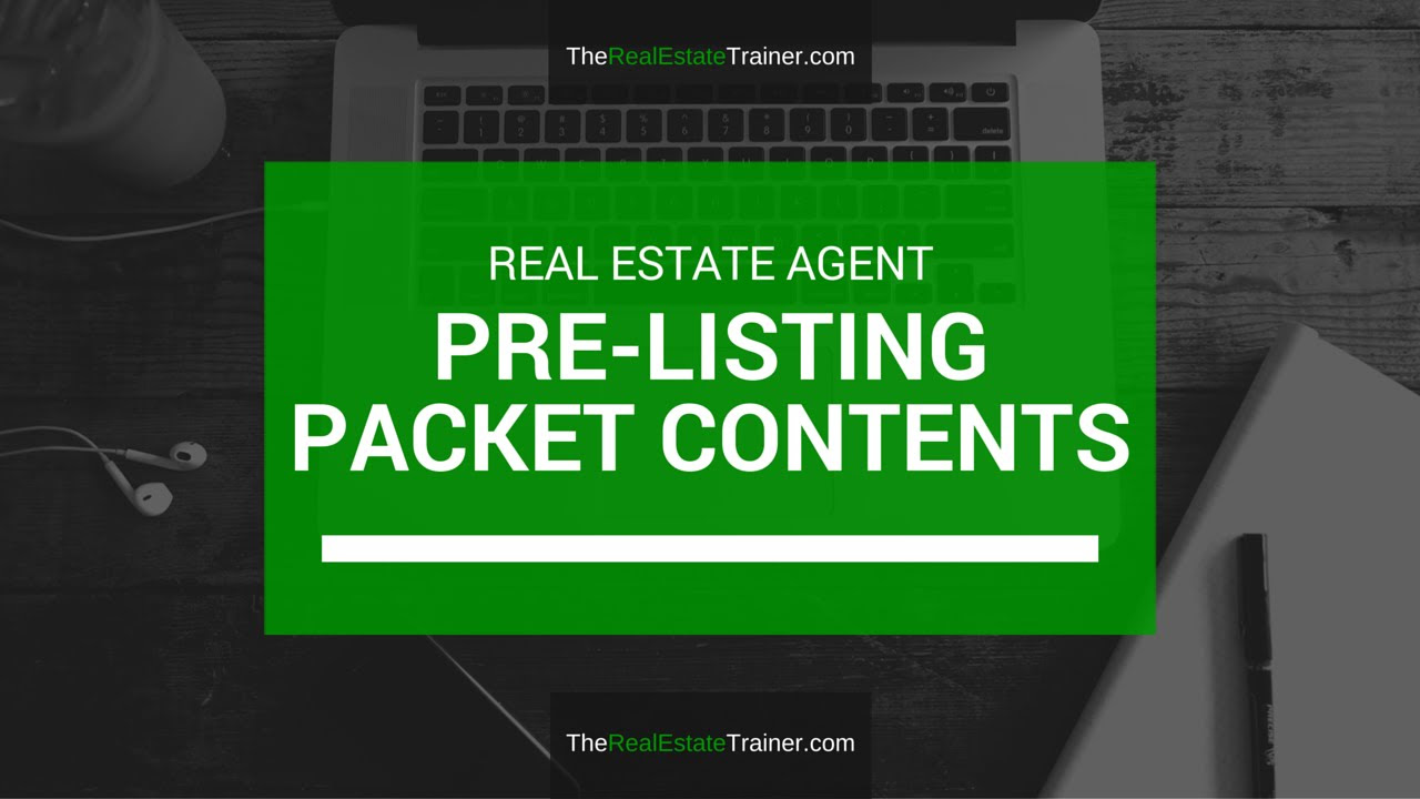 Pre-Listing Package Content & Strategies