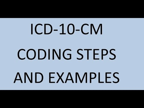 ICD 10 CM Coding steps