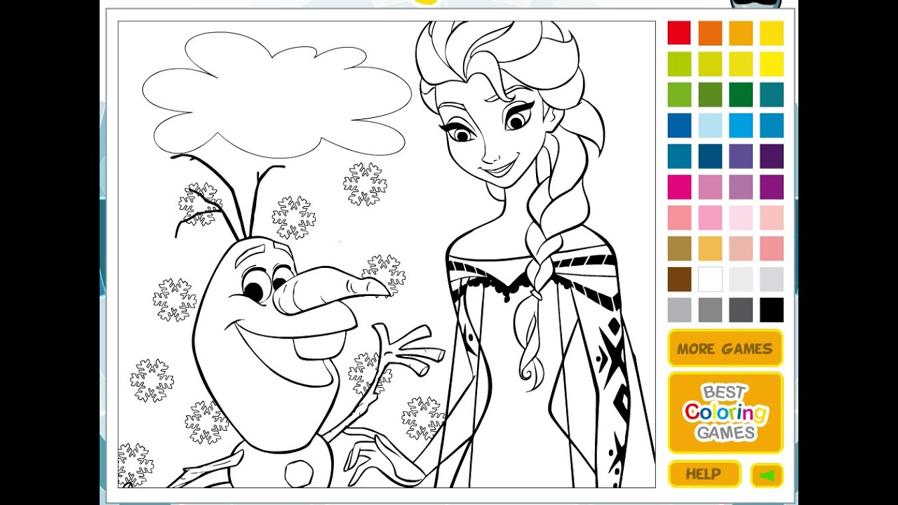 disney princess coloring pages disney online coloring pages for kids youtube - Online Coloring Games