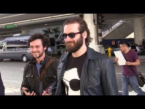 George Blagden And Clive Standen Arrive At LAX