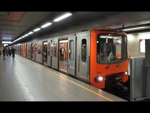 Belgium: Brussels Metro, on board a Line 6 train between Clemenceau and Gare du Midi