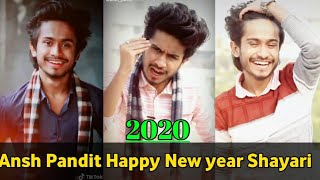 Ansh pandit Happy New year Shayari || Hart Touching