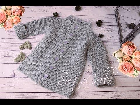 🚼 Baby PEACOAT||Пальто спицами на ребенка 🚼 2-3 года