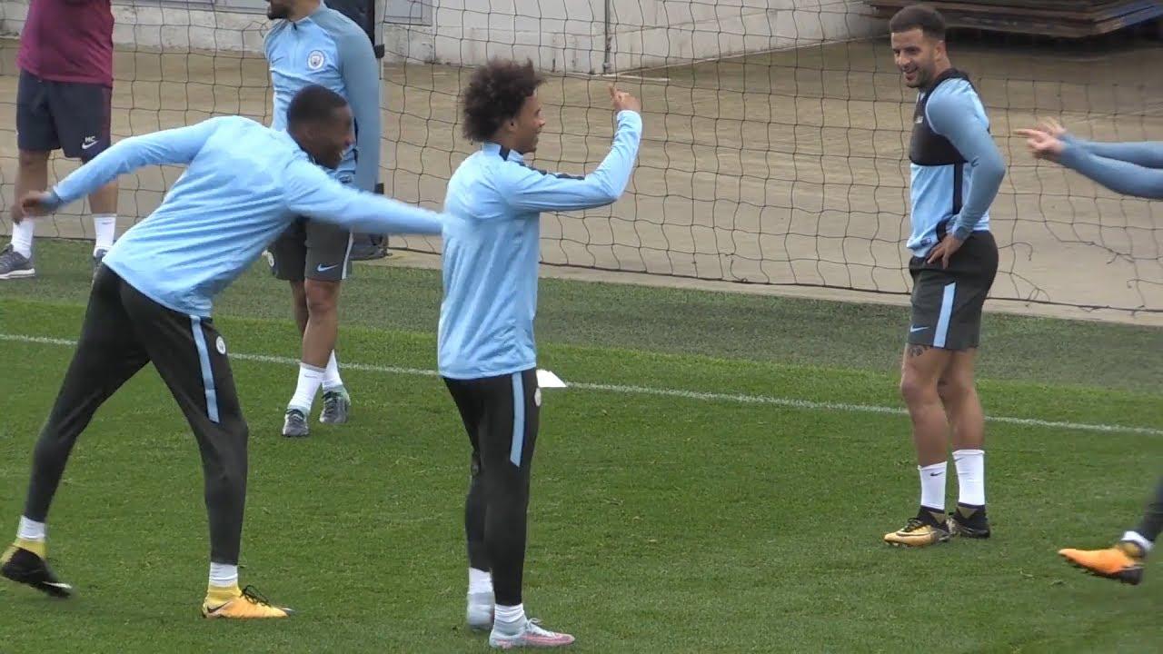 3e7c9fb9b Manchester City Train Ahead Of Champions League Clash With Feyenoord ...