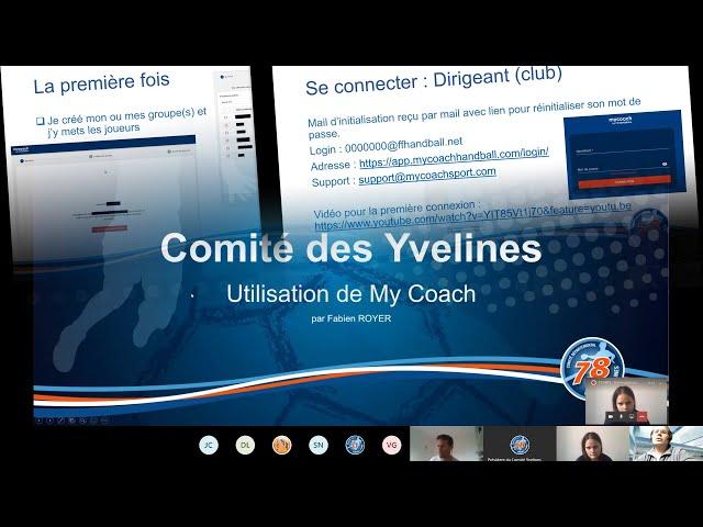 CDHBY - Visio-conférence : l'outil My Coach par Fabien Royer