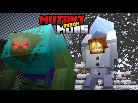 Minecraft Mutant Creatures VS Rexy's Expansion [UPGRADED MINECRAFT MOBS BATTLE] Minecraft PE