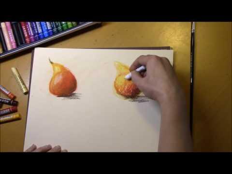 Как рисовать масляной пастелью видео уроки для начинающих