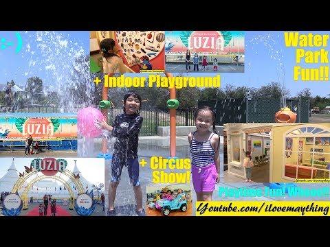 Kids' Indoor Playground Pretend Playtime! Outdoor Water Park and Circus Show. Cirque du Soleil