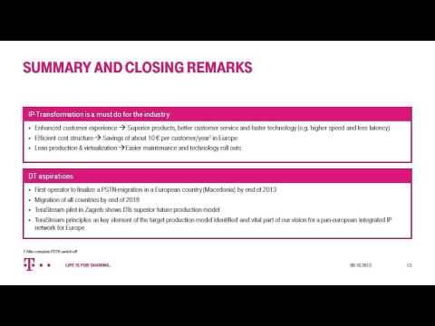 Deutsche Telekom Webinar: All-IP Europe