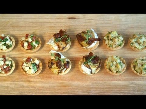 How to cook canape of savoury tartlet youtube for Canape french translation