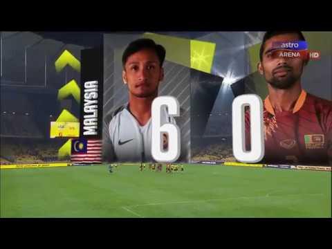 Malaysia lwn Sri Lanka | 6-0 | Perlawanan Persahabatan | Astro Arena