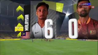 Malaysia lwn Sri Lanka   6-0   Perlawanan Persahabatan   Astro Arena