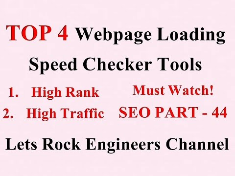 Top 4 Webpage Loading Speed Checker Tools - SEO PART - 44 - 동영상