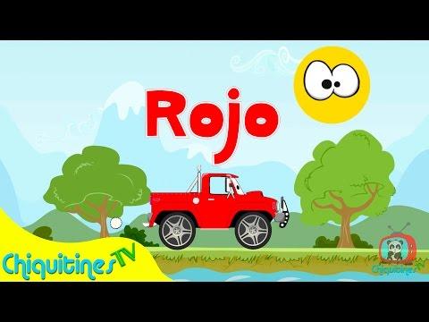Los Colores - Canción Infantil - Aprende los colores con camiones - en español