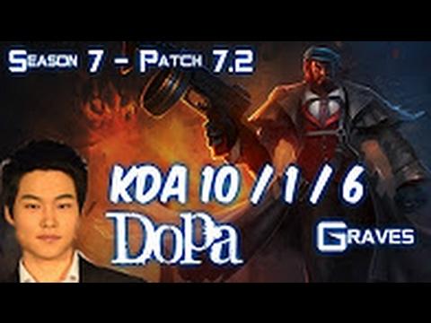 Download Dopa GRAVES vs LEE SIN Jungle - Patch 7.2 KOREA Ranked