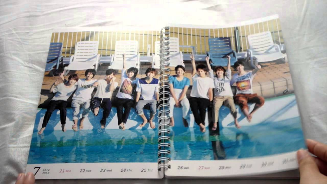 Calendar Background For Desktop : Unboxing hey say jump calendar how to use