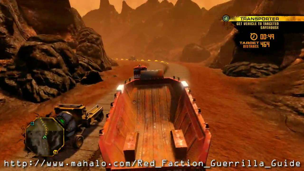 Red Faction Guerrilla Walkthrough Free Fire Zone Sector Transporter 1 Youtube