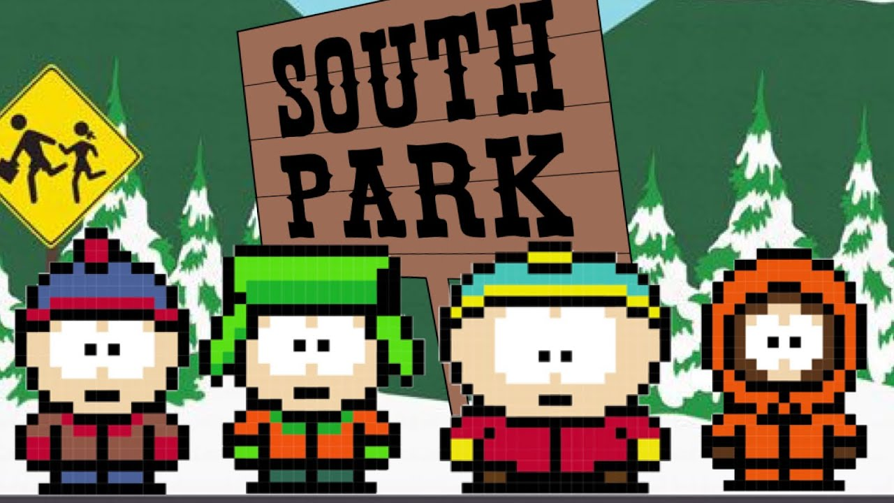 South Park Characters Pixel Art Eric Kenny Kyle Stan Youtube