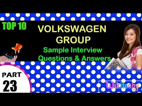 volkswagen group important interview questions and answers for freshers