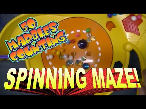 Counting 50 Marbles using an AWESOME Spinning Marble Maze