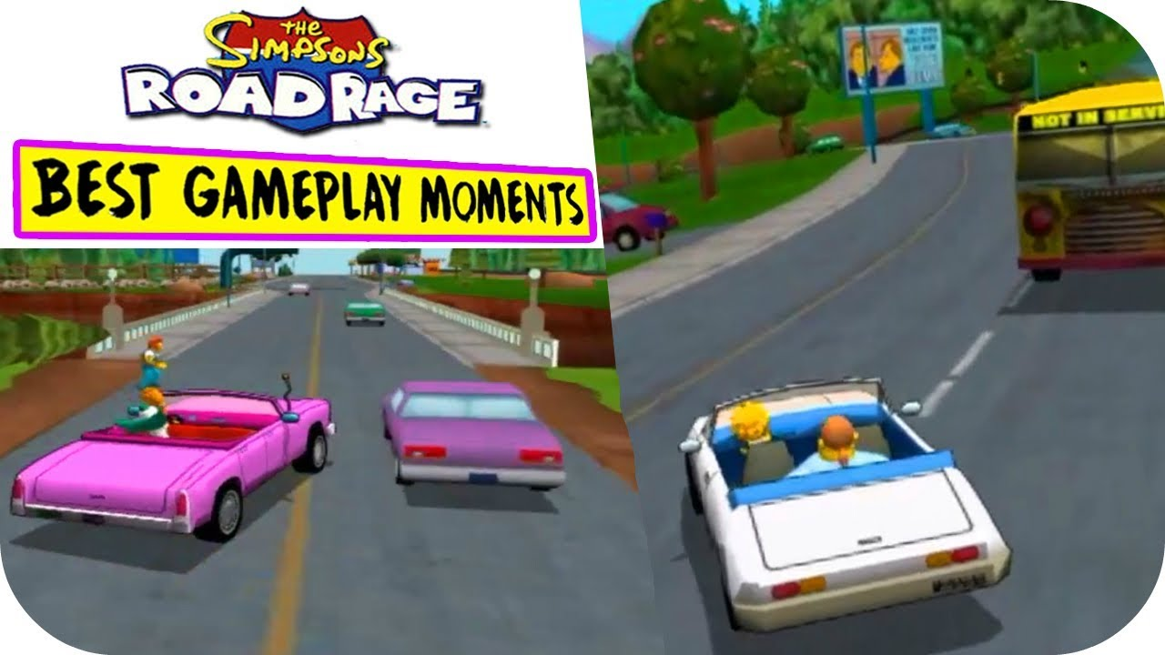 The Simpsons Road Rage - Best Gameplay Moments PS2 / Gamecube HD