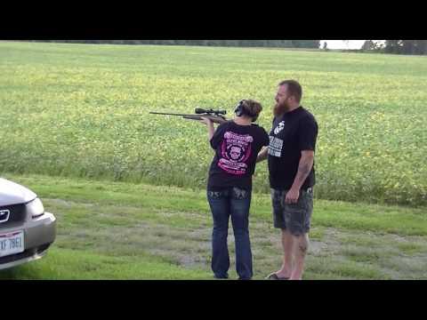 Kristina Shooting Her Model 700 7mm Rem  Mag  9 13 16