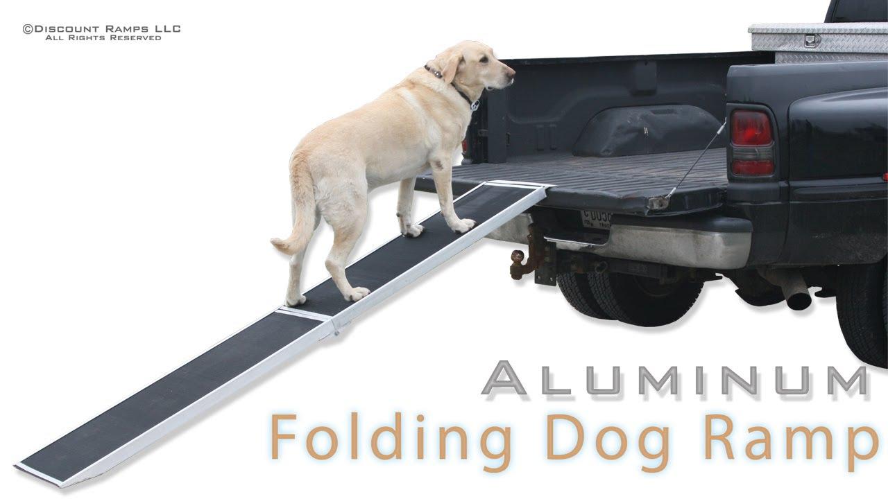 Dog Ramp For Truck >> Folding Aluminum Dog Ramps Youtube