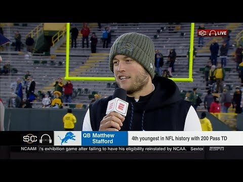 Matthew Stafford Talks About Beating the Packers at Lambeau Field (November 6, 2017)