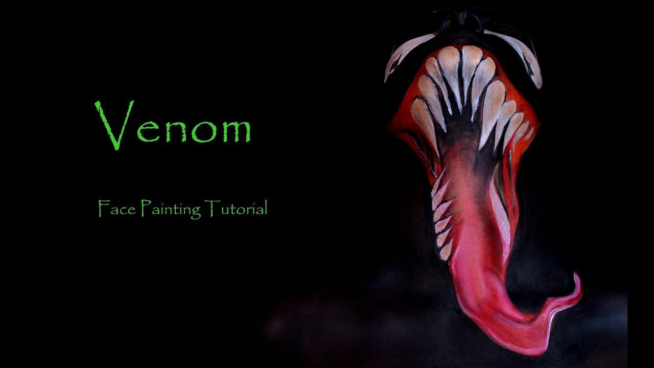 Venom face painting tutorial youtube venom face painting tutorial baditri Images