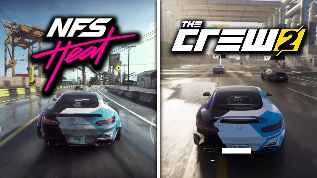 Need For Speed Heat Vs The Crew 2 Side By Side Day Night