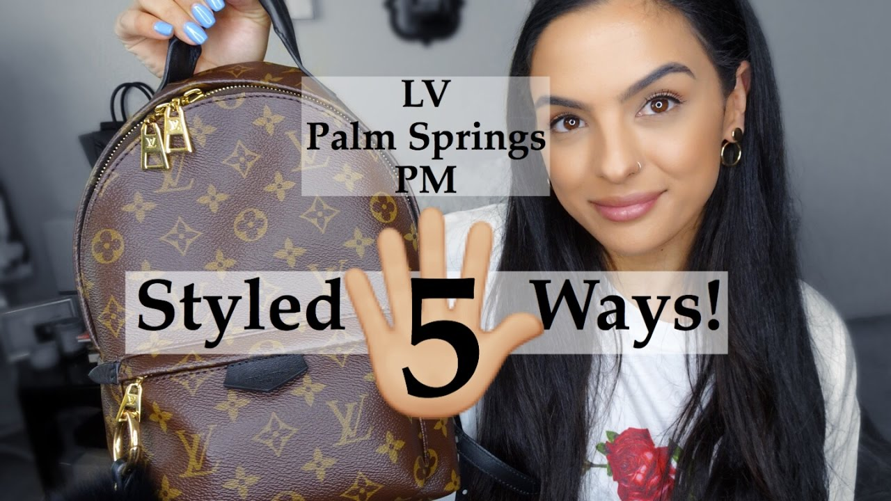 739c24b066e Louis Vuitton Palm Springs Backpack PM Styled 5 Ways  elle be  - YouTube