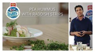 #LoveWinter Pea Hummus With Raddish Strips