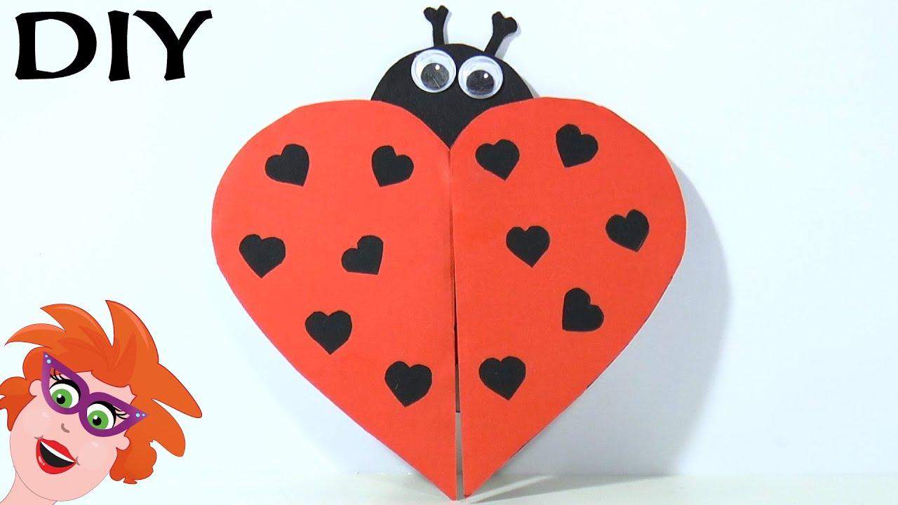 Super DIY - zelf Lieveheersbeest maken voor Valentijnsdag - YouTube #VA14