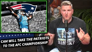 "Pat McAfee ""Cam Newton Will Take The Pats To The AFC Championship"""