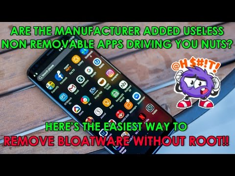 How to uninstall manufacturer junk & non removable bloatware apps android?(no root: using Debloader)