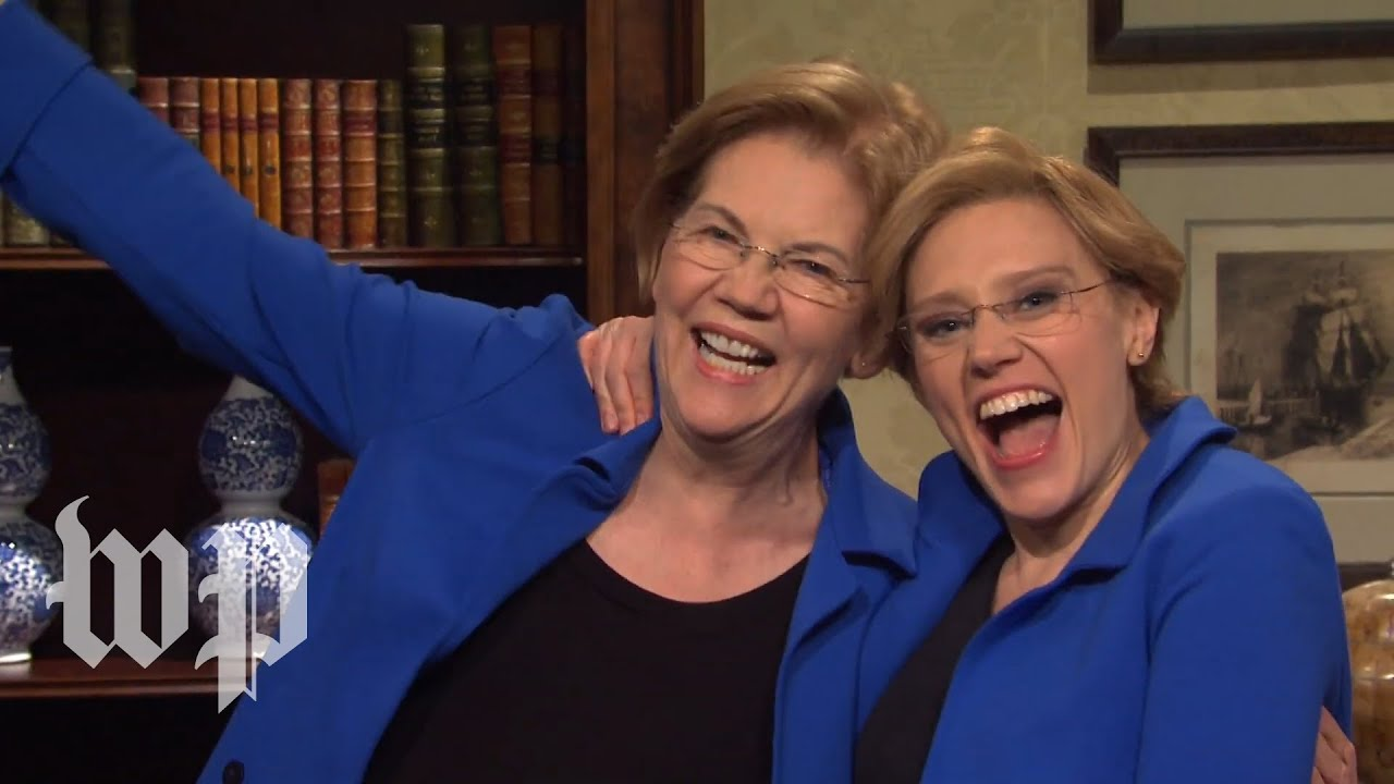 Elizabeth Warren Appears On SNL With Kate McKinnon