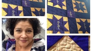Crown Royal Meandering Around Longarm Quilting!