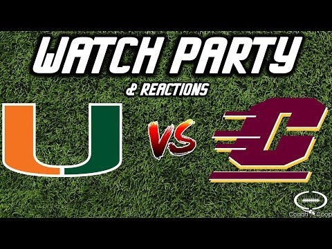 Miami vs Central Michigan   Watch Party & Reaction   LINKS   NOT THE GAME!