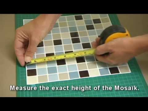 How To Install L And Stick Smart Tiles On A Backsplash With One Of The Square Model You