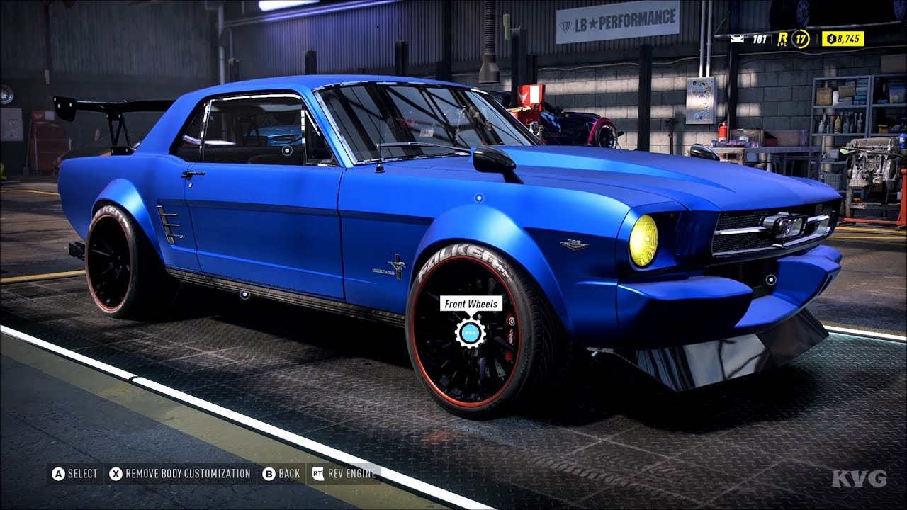 Need For Speed Heat Ford Mustang 1965 Customize Tuning Car