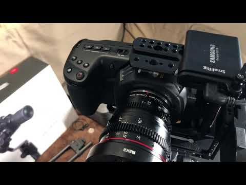 BMPCC 4K With Half Cage On Gudsen Moza AirCross 2