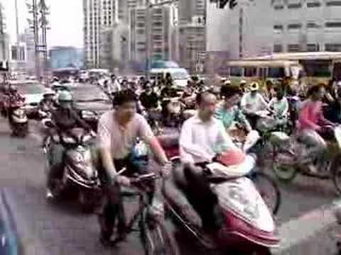 Traffic in Shanghai, China
