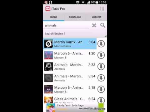 Come scaricare musica dal cellulare con un'app.